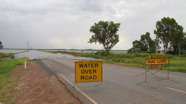 the flooded adelaide river