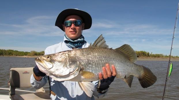 fishing shady camp barramundi run off 2012