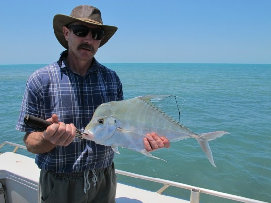 fishing charter darwin blue water fishing fun